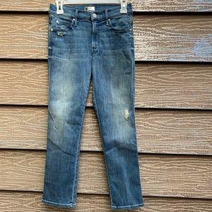 MOTHER distressed denim jeans